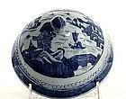 19th C Chinese Export Blue And White Lid  cover